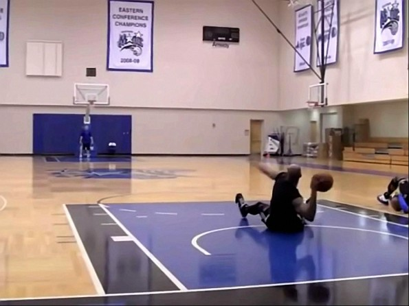 Vince Carter Hits 86-Foot Shot Sitting Down