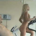 HOT Blond Girl Working Naked (Vid)