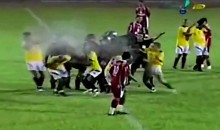 Brazilian Soccer Players Pepper Sprayed By Police (Video)