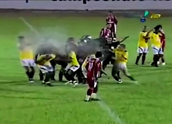 Brazilian Soccer Players Pepper Sprayed By Police