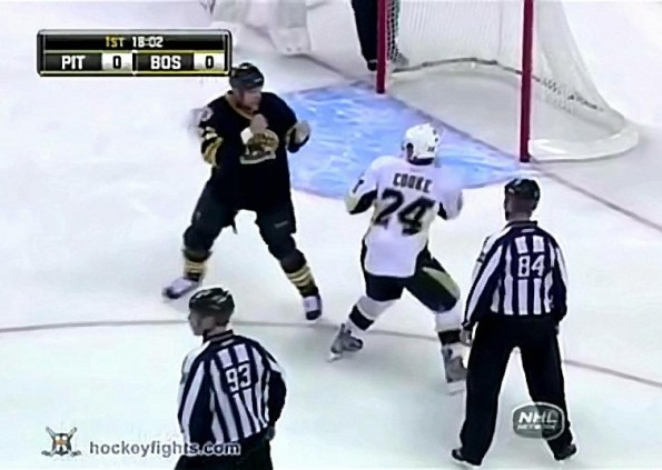 Bruins' Shawn Thornton Exacts Some Revenge On The Pens' Matt Cooke