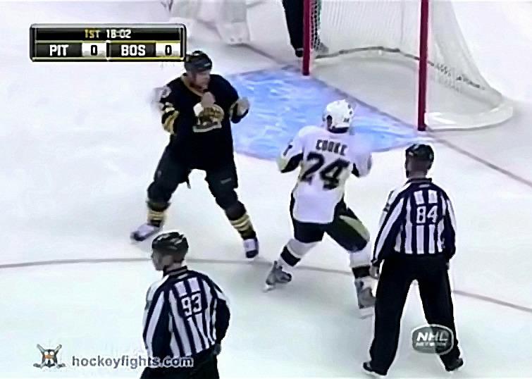 Bruins' Shawn Thornton Exacts Some Revenge On The Pens' Matt Cooke