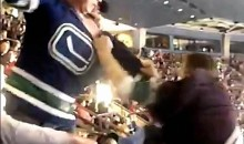 Canucks Fans Uses Ducks Fan's Face As A Punching Bag