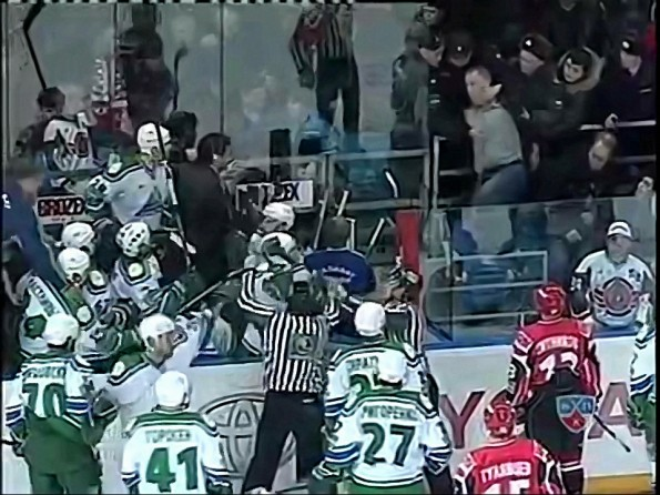 Fan Attacks Backup Goalie During KHL Action