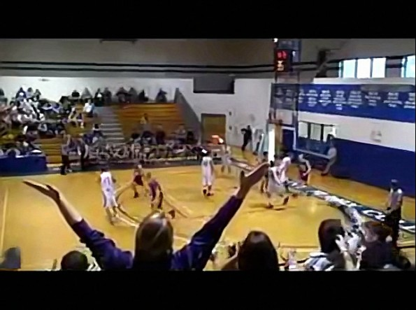 High School Baller Uses Opponent's Head To Make A Basket