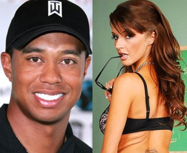 Joslyn James and Tiger Woods