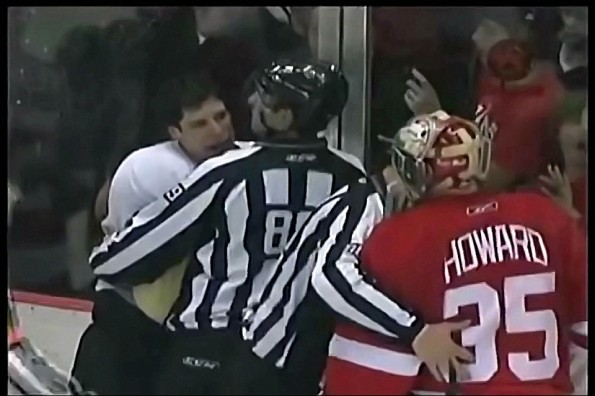 Sidney Crosby Gets Some Goalie Smackdown
