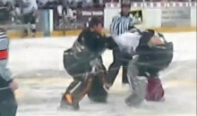 USHL Goalie Fight (Video)