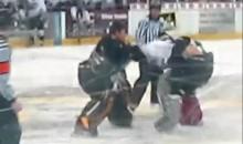 USHL Goalie Fight (Video)