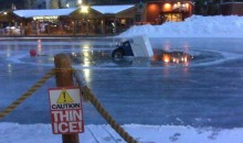 Zamboni Takes A Dip In The Lake (Video) + (Pic)