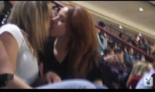 Bulls Game Boredom Turns Into Female Make-Out Session (Video)