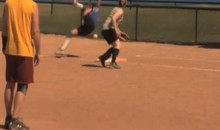 Softball To The Head Sends Female Flying (Video)