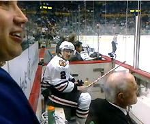 Duncan Keith Squirts Water At A Taunting Fan