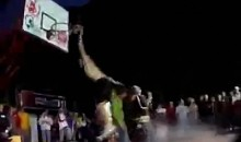 Dunk Fail: Jumping Over 4 Hot Chicks (Video)