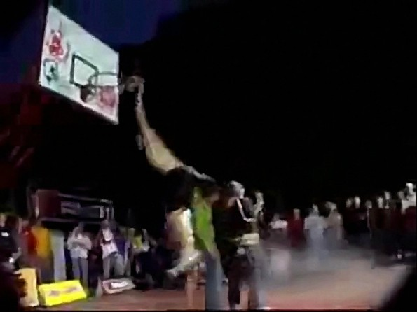 Dunk Fail Jumping Over 4 Hot Chicks