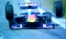 F1 Car Loses Both Front Tires (Video)