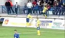 Soccer Player Scores Goal, Gets Face Slapped