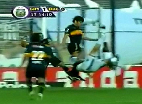 The Rare Double Bicycle Kick Goal