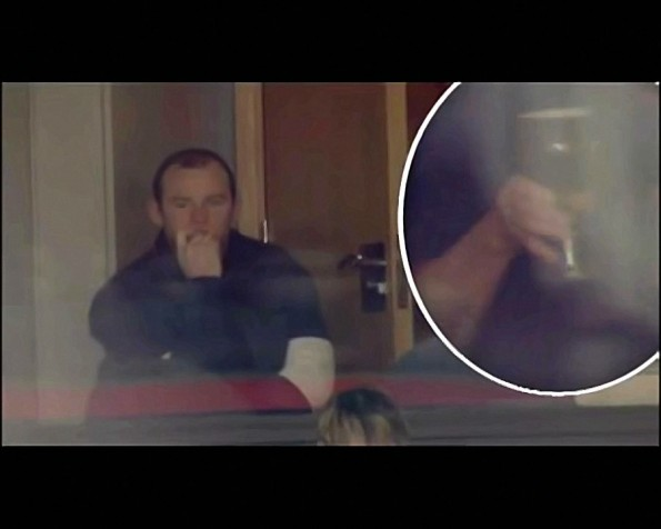 Thirsty Wayne Rooney Caught In The Act