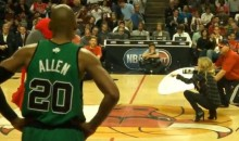 Ray Allen Can't Take His Eyes Off Marisa Miller (Video)
