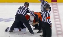 Flyers' Laperriere Blocks Shot With His Face (Video)