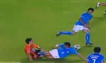 The Most Grueling Slide Tackle Nut-Shot Ever!