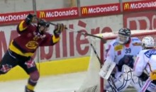 Swiss League's Thomas Deruns Scores Incredible Lacrosse Goal