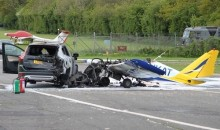 Drag Race Interrupted When Small Aircraft Crashes Into SUV