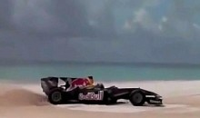 F1 Car Takes A Ride On The White Sands Of The Dominican