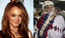 Lindsay Lohan Starts Fight With Rangers' Sean Avery And Aaron Voros