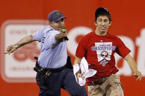 Phillies Fan Tasered During Game