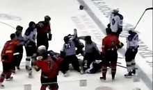 Royals and Cyclones Brawl In ECHL Finals (Videos)