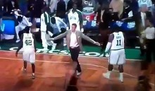 Celtics Brian Scalabrine Gets Stiffed (Video)