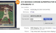 Stephen Strasburg Baseball Card Inexplicably Going for Over $10,000 on Ebay