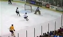 USHL Hockey Goalie Shoots and Scores (Video)