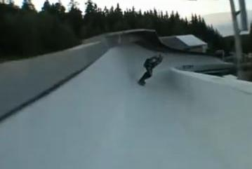 bobsled and skateboarding