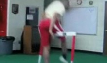 Hurdles Can Be Hard On The Groin (Video)