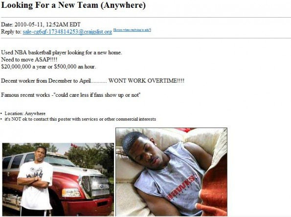 joe johnson craigslist