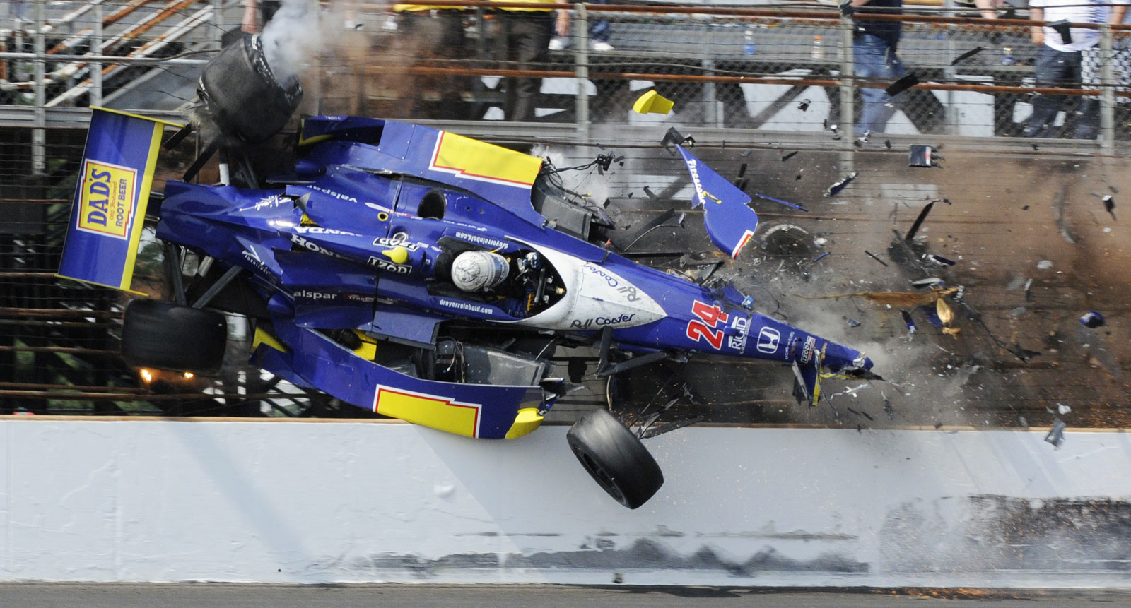 Indy Car Crash Yesterday