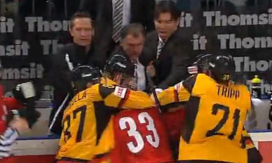 swiss germany bench fight
