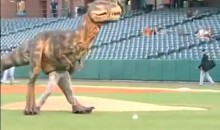 T-Rex Throws First Pitch At Memphis Triple-A Game (Video)