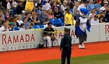 Blue Jays' Ball Boy Disciplined by Ump, Officer and Mascot (Video)