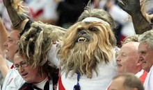 Picture Of The Day: Chewbacca Cheers For The English