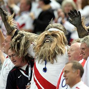 Chewbacca Cheers For The English