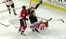 Dan Carcillo Levels His Own Teammate Jeff Carter (Video)