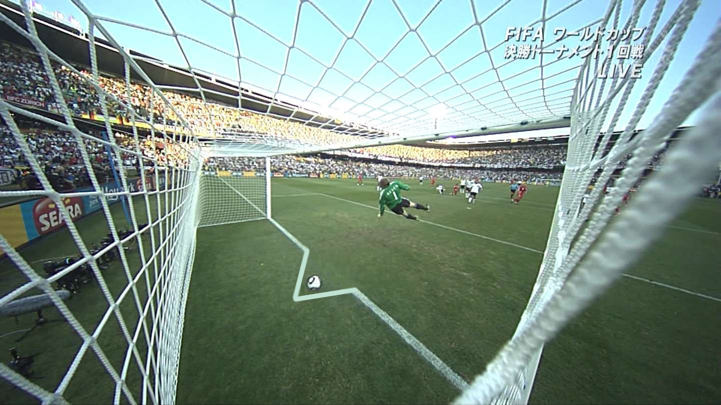 England loses goal to crooked goal line