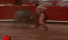 Mexican Bullfighter Sees Bull, Runs Away, Gets Arrested (Video)