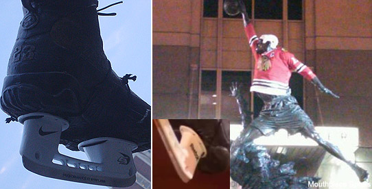Michael Jordan Statue Now Has Nike Skates 2
