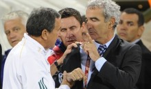 French Coach Raymond Domenech Refuses To Shake Hands On His Way Out Of The World Cup