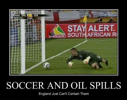 Soccer and oil spills